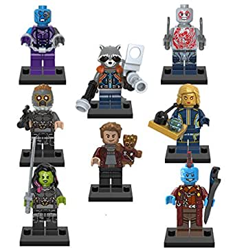 Guardians of the Galaxy Vol. 2 Set of 8 Mini Figures Fit All Lego PlaysetsStar Lord, Rocket, Baby Groot
