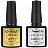 Annabelle Base & Top coat Smalto Semipermanente Nail Polish UV LED Gel Unghie (Kit di 2pcs 7.3ML/pc) 011