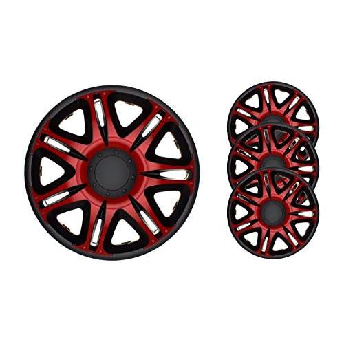 low-cost 4 pc Enjoliveurs de roues NSR ROUGE-NOIR 15 pouces