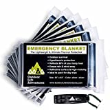 Emergency Blankets (6-Pack) to Increase Your Odds of Survival in Extreme Conditions   Reflective Space Blanket with Mylar Foil   Durable, Compact & Lightweight Rescue Gear   BONUS Safe Whistle & eBook