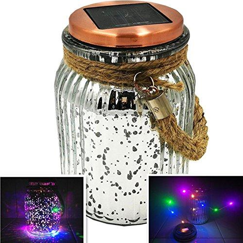 Cheap  Sogrand Solar Jar Lights Outdoor Lids for Mason Jars Silver Hanging Lantern..