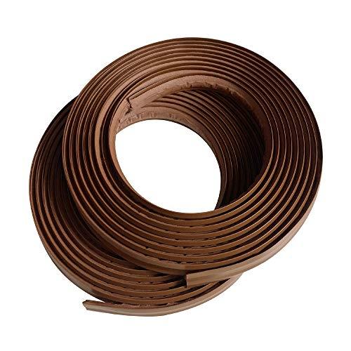 "Instatrim 1/2 Inch (Covers 1/4"" Gap) Flexible, Self-Adhesive, Caulk and Trim Strips for Floors, Ceilings, Countertops and More (Dark Brown, 10ft Long, 2 Pack)"