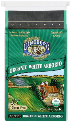 Lundberg Organic California White Arborio Rice, 25-Pound by Lundberg