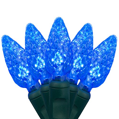Blue Led Icicle Lights With Green Wire in US - 9