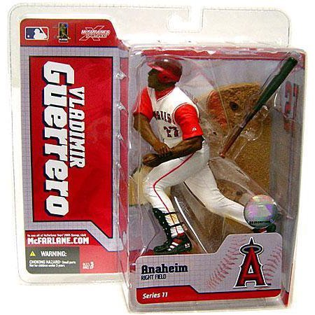 McFarlane Toys MLB Sports Picks Series 11 Action Figure Vladimir Guerrero (Anaheim Angels) White Jersey
