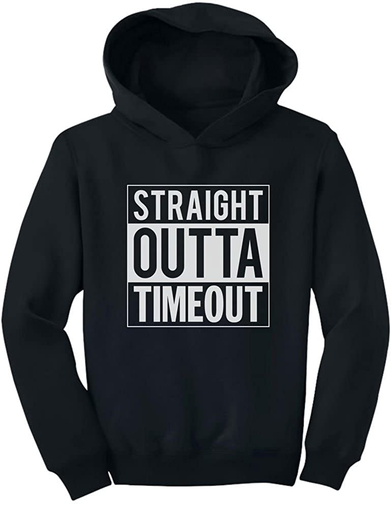 TeeStars - Straight Outta Timeout Funny Kids Toddler Hoodie 2T Black GhPhllMgvmPlvm9to