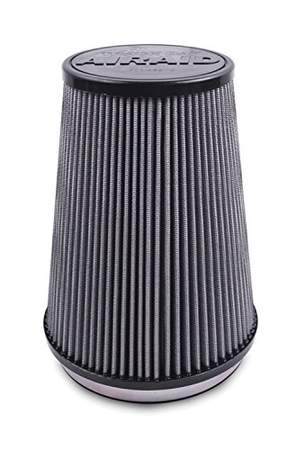 Airaid 720-440TD Racing Air Filter: Oval Tapered; 3.5 in (89 mm) Flange ID; 5.25 in (133 mm) Height; 8.5 in x 5.25 in (216 mm x 133 mm) Base; 6 in x 3.75 in (152 mm x95 mm) Top