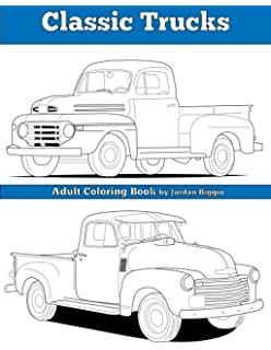 Classic Trucks Adult Coloring Book