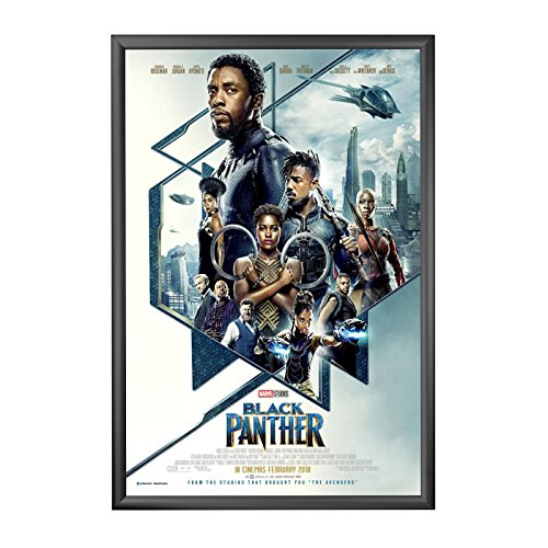 "SnapeZo Movie Poster Black Frame 27x40 Inches, 1.2"" Aluminum"