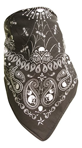 Fierce Face Protection Fleece Lined Bandana Prospector Skulls (Fleece Lined Bandana)