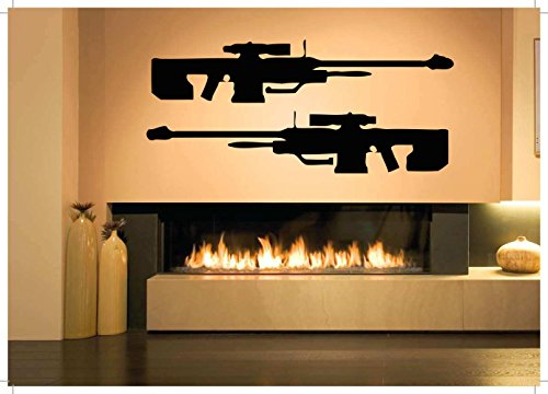 Wall Room Decor Art Vinyl Sticker Mural Decal Large Caliber Sniper Rifle Heavy Weapon Gun Military Poster AS2833 (Caliber Sniper Rifle)