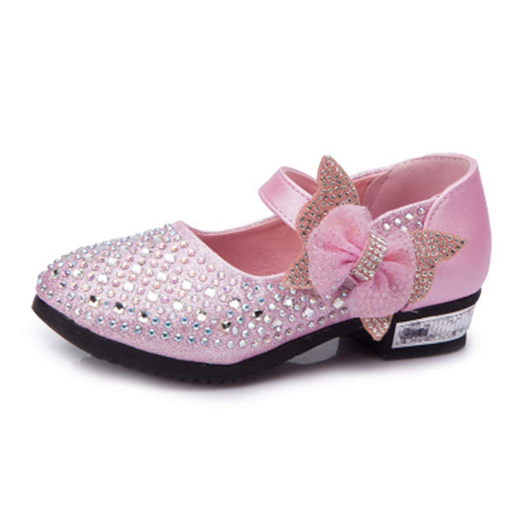 Elegant Kids Baby Girl Crystal Sequins Princess Bow Tie Yoga Dancing Lady Modern Shoe Kstare Girls Dance Shoes