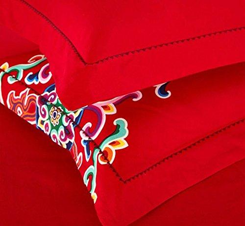 DHWM-Wedding wear wool 4 piece set, the red wedding bedding, 1.8m cotton pure cotton bed linen a ,1.8m
