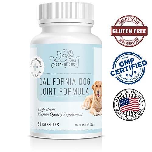 Sprinkle 60 Capsules (Joint Supplement for Dogs by California Dog Supplements | Vitamins Contain Glucosamine, Chondroitin, and MSM for Hip & Joints Pain + Arthritis | Tissue Function & Mobility for Pets | 60 Capsules)
