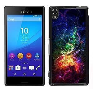 EJOY---Cubierta de la caja de protección la piel dura para el / Sony Xperia M4 Aqua / --Psychedelic Rainbow Mist Galaxy