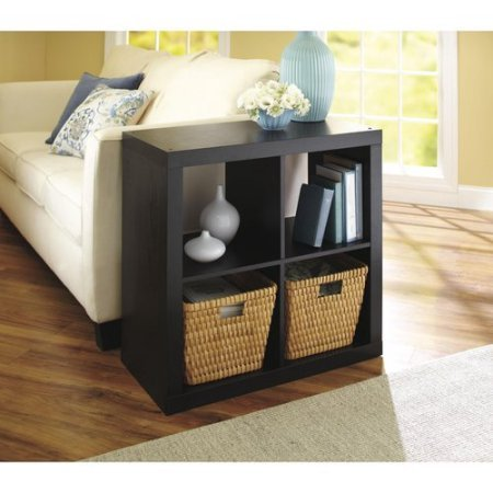 Better Homes And Gardens Bookshelf Square Storage Cabinet 4-Cube Organizer, Espresso, Set Of 2 by Better Homes