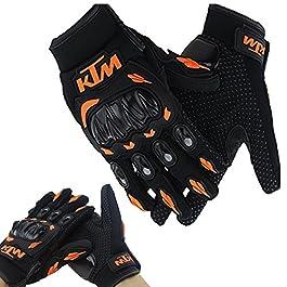 Vheelocityin KTM Gloves KTM Bike Riding Gloves Orange and Black – XL
