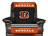 NFL Cincinnati Bengals Recliner Reversible Furniture Protector with Elastic Straps, 80-inches by 65-inches