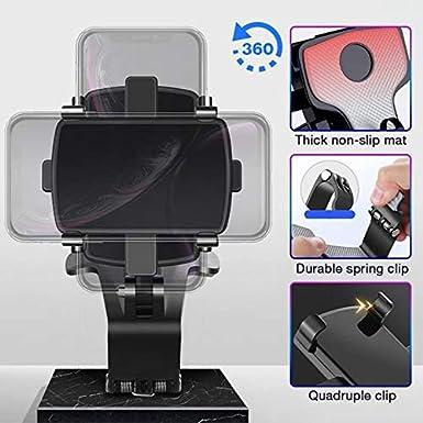 Yeehao Armaturenbrett Handyhalterung 1200 Grad Handyhalterung Auto Rückspiegel Gps Navigation Halterung Elektronik
