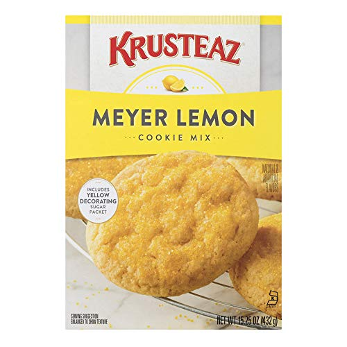 Krusteaz Bakery Style Meyer Lemon Cookie Mix, 15.25-Ounce Boxes (Pack of (Soft Chewy Cookie Recipes)