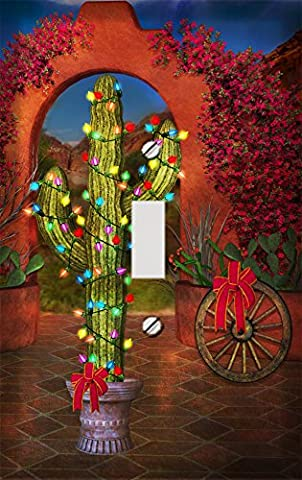 Southwestern Christmas Cactus Decorative Switchplate Cover - Cactus Outlet