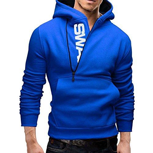 Hengzhi Hoodie Pullover Zipper Pockets