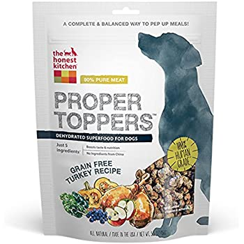 The Honest Kitchen Proper Toppers: Natural Human Grade Dehydrated Dog Superfoods, Grain Free Turkey, 5.5 oz
