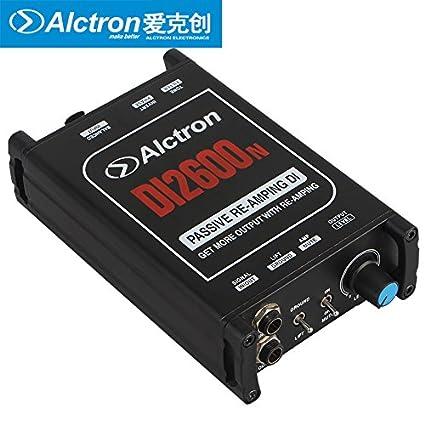 Amazon.com: Alctron DI2600N Guitar Bass Amplifier Preamplifier Passive Direct DI Box Signal Again Editor: Musical Instruments