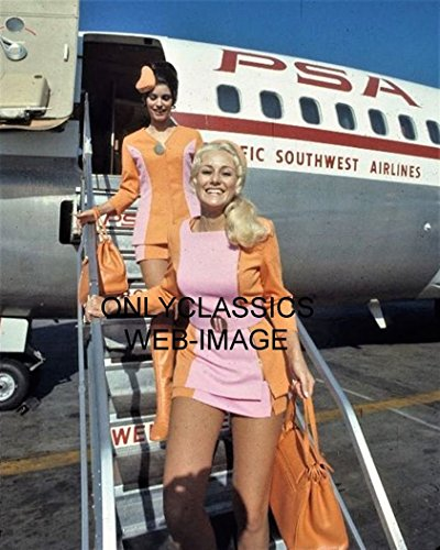 (OnlyClassics PSA Airlines Sexy Cute Stewardess in Uniforms Photo Aviation Flight Attendants)
