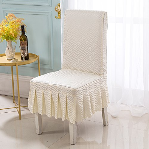 TDLC The Hotel wedding dining chairs set of wedding chairs and stools set of twin hood hotel restaurant banquet seat cover kit, m White Wall Format
