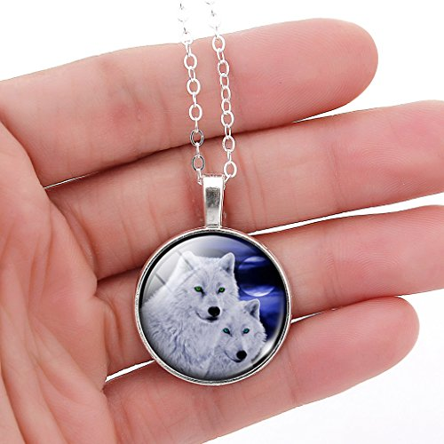 JIAYIQI Wolves Necklaces Glow Moon Necklace Wolf Stuff for Girls and Boys by JIAYIQI (Image #2)