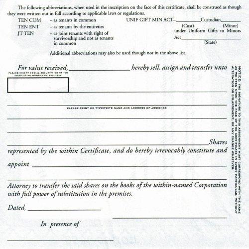 Duke 10 Stock Certificates (Pack of 25)