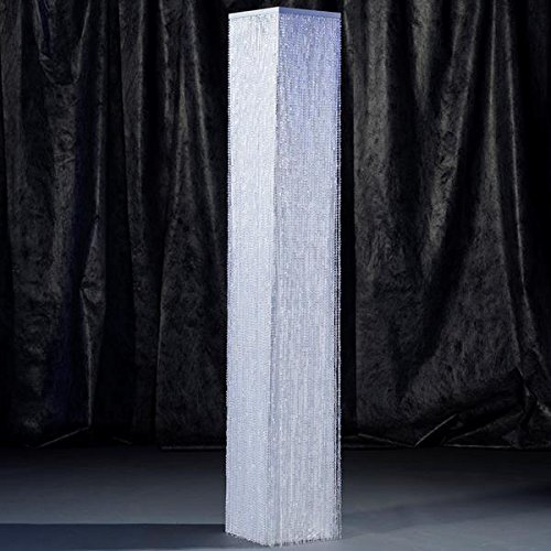 Crystal Overlay Square Column (White)