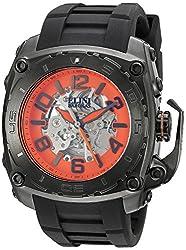Elini Barokas Men's 'The General Prime' Automatic Stainless Steel Casual Watch (Model: ELINI-20027-BB-06)