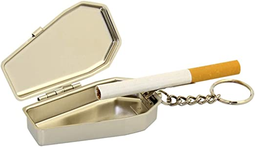Pocket Smoking Ash Tray with Lid Portable Ashtray Key Chain for Easily Bringing When Travelling Ashtray Pocket Ashtray Travelling Ashtray