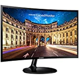 "Samsung LC24F390FHEXXY LED-Lit Full HD Curved Monitor, 23.5"", Black"