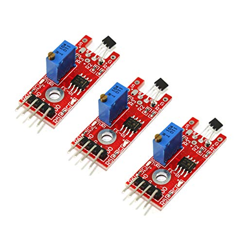 - HUABAN 3 Pack KY-024 Linear Magnetic Hall Switches Speed Counting Sensor Module for Arduino DIY Starter Kit