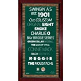 MLB Oakland Athletics Subway Sign Wall Art with Authentic Dirt from O.co Coliseum, 16x32-Inch