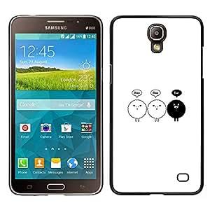 // PHONE CASE GIFT // Duro Estuche protector PC Cáscara Plástico Carcasa Funda Hard Protective Case for Samsung Galaxy Mega 2 / Black Sheep Minimalist Cute Drawing /