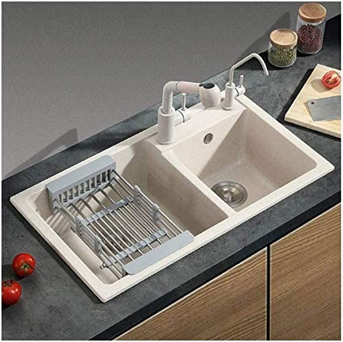 Amazon Com Kitchen Sink Double Sink Top Mount Bar Restaurant 78cm 43cm 22cm Liting Home Kitchen