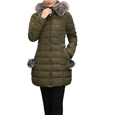 Size 8-16 Ladies New Hooded Parka Fleece Top Womens Long Jacket Coat Winter Warm