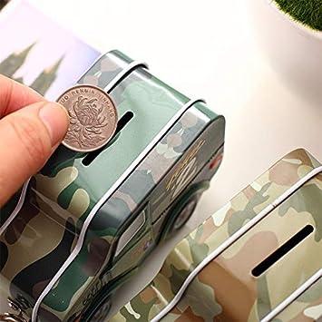 FAWEG Forma de Coche Hucha Caja de Ahorro de Dinero Moneda Hucha Caja de Dinero con Cerradura Regalos para ni/ños B///Color Aleatorio