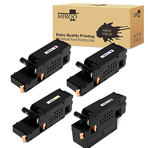 MIROO Compatible Toner Cartridge Replacement for Dell 1250 1250c 1350 1355 1760 1765 Series (4-Pack),Use on Dell C1760nw C1765nfw 1250c 1350cnw 1355cn 1355w 1355cnw C1765nf Printer