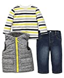 Little Me Baby Boys' 3 Piece Hooded Jacket and Pant Set, Heather Vest, 3T