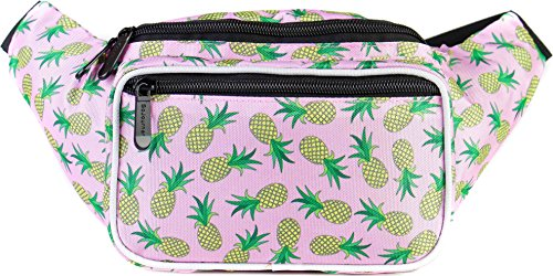 SoJourner Pineapple Fanny Pack - Cute Packs for men, women festivals raves | Waist Bag Fashion Belt Bags