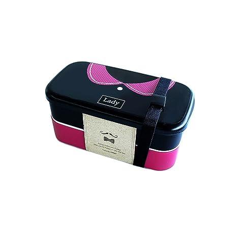 Pinzhi 1 pieza Desayuno box Niños Picnic Bento Box – Fiambrera Microondas Cajas Con Tenedor Cuchara