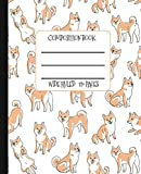 Wide Ruled Composition Book: Cute Shiba Inu