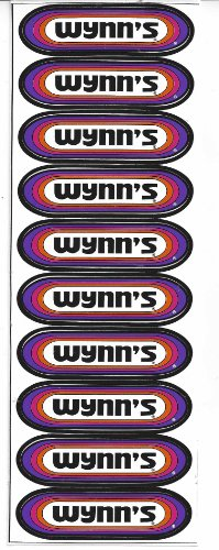 Wynn's Racing Decal Sticker Sheet of 10 Vintage