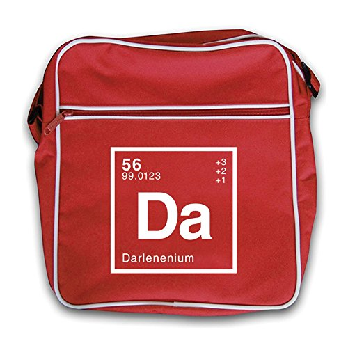 Retro Darlene Flight Dressdown Bag Periodic Element Red BtIxxdv