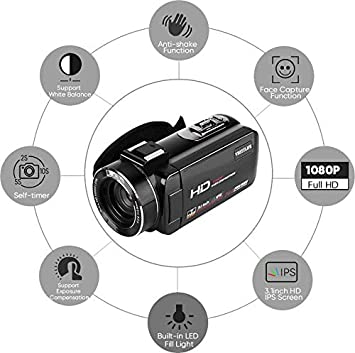Mugast Cámara 1080P / 30FPS FHD, WiFi Profesional 16X Zoom Digital ...